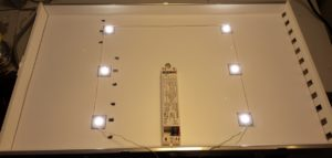 Selbstgebautes LED-Panel mit geringer Spannung